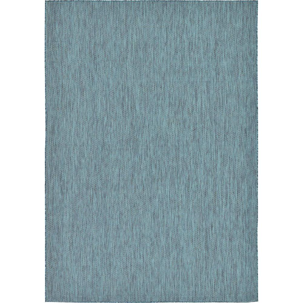 Outdoor Rug 7 X 10: Unique Loom Outdoor Teal 7' X 10' Indoor/Outdoor Rug
