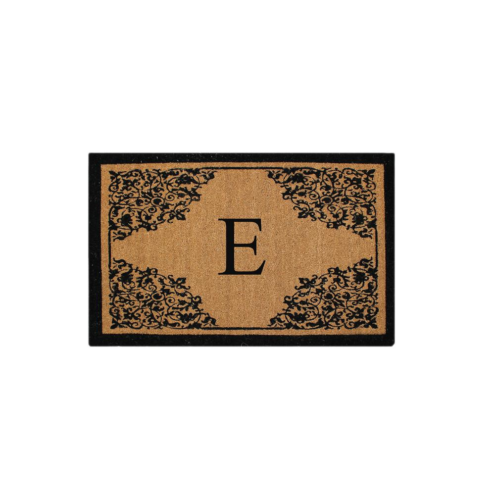 Monogrammed E Courtyard Entry Double Door