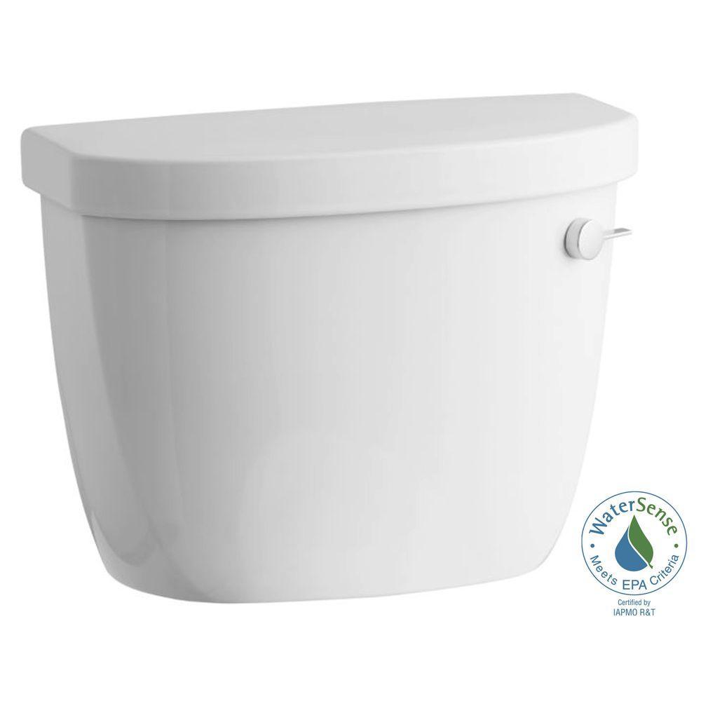 Cimarron 1.28 GPF Single Flush High Efficiency Toilet Tank Only with AquaPiston Flushing Technology in White