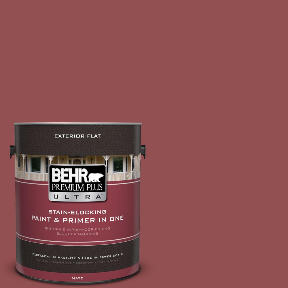 1-Gal. #PPU1-8 Pompeian Red Flat Exterior Paint