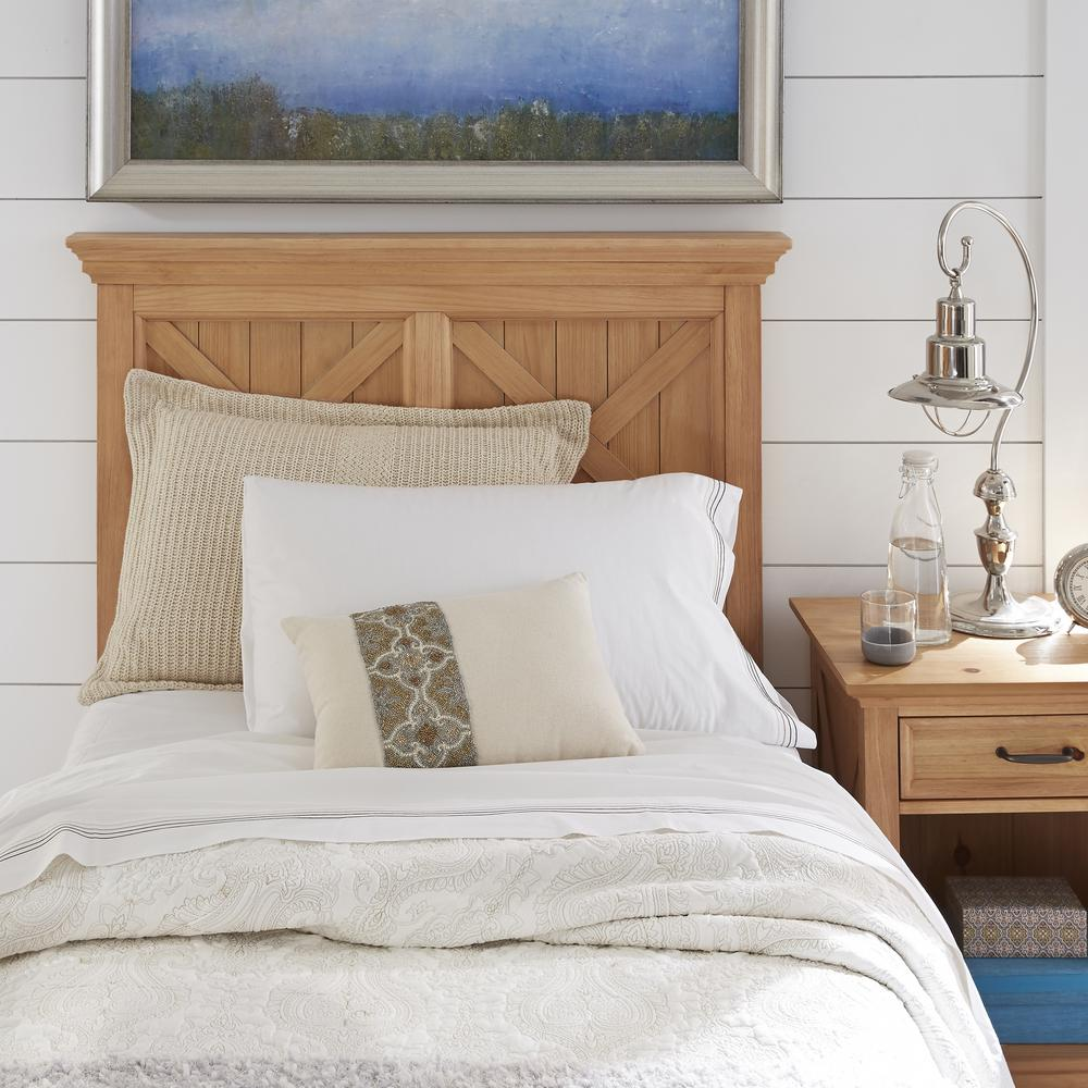 Home Styles Country Lodge Pine Twin Headboard 5524 401 The Home Depot