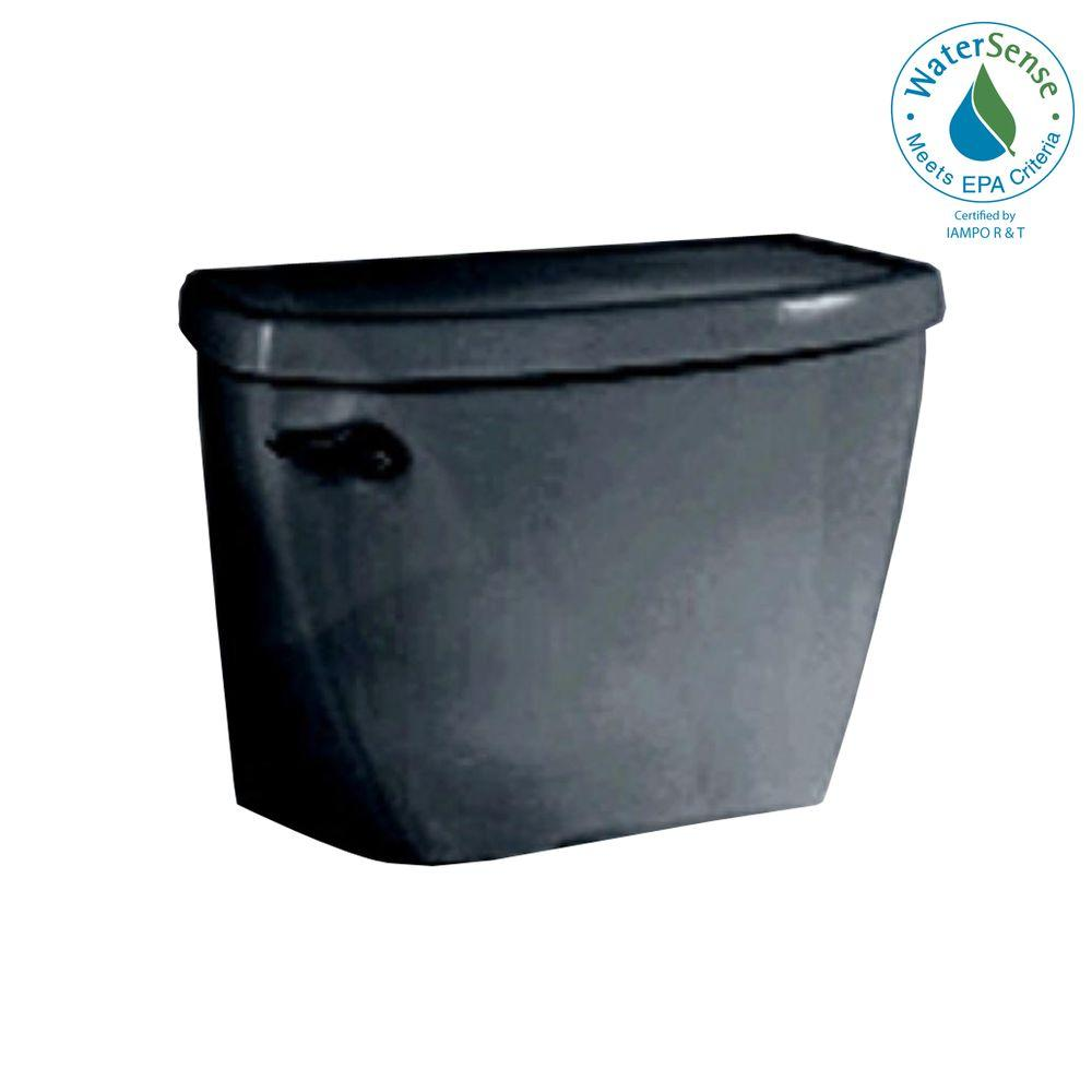 American Standard Yorkville FloWise Pressure-Assisted 1.1 GPF Toilet Tank Only in Black-DISCONTINUED