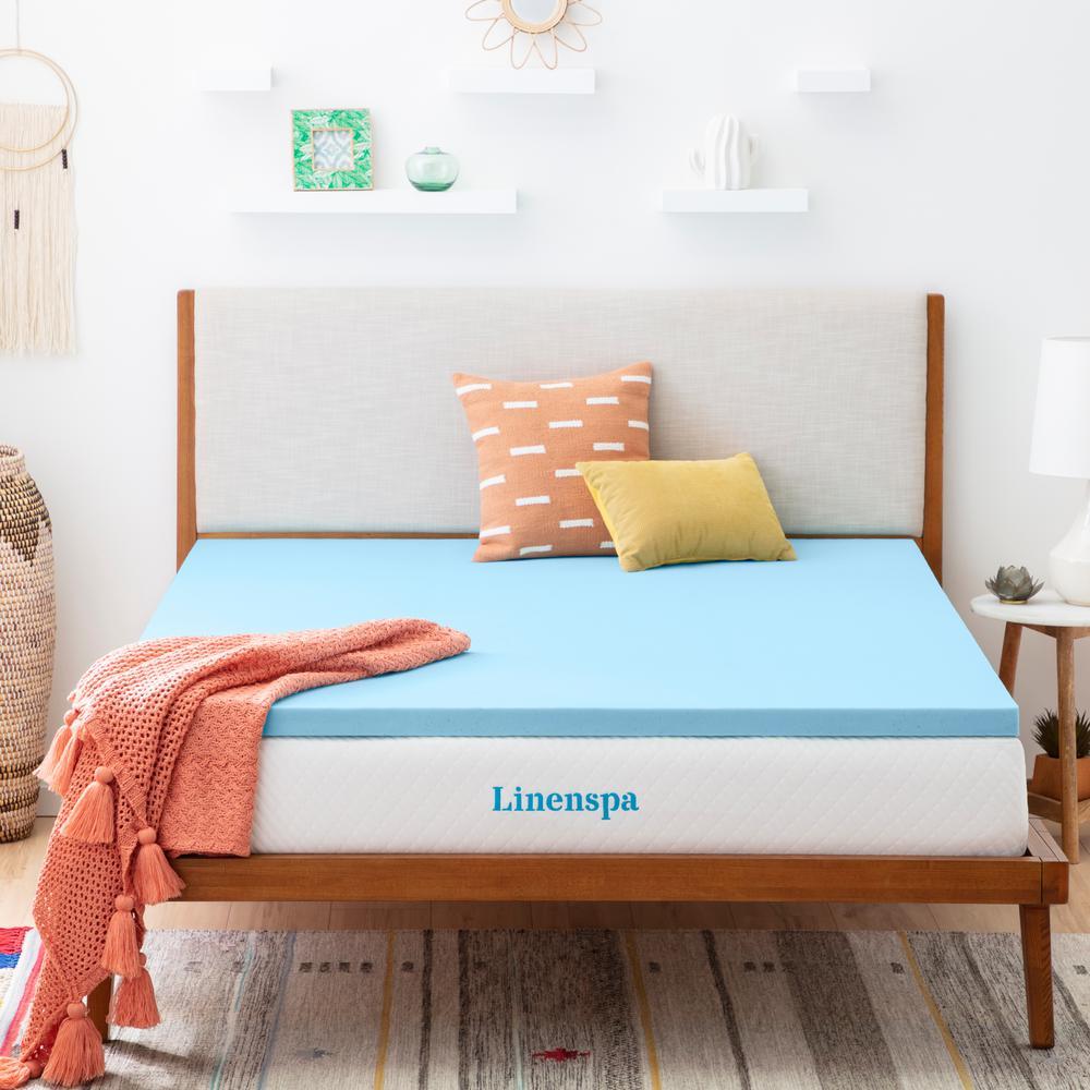 Linenspa Essentials 2in Twin Gel Memory Foam Mattress Topper Deals