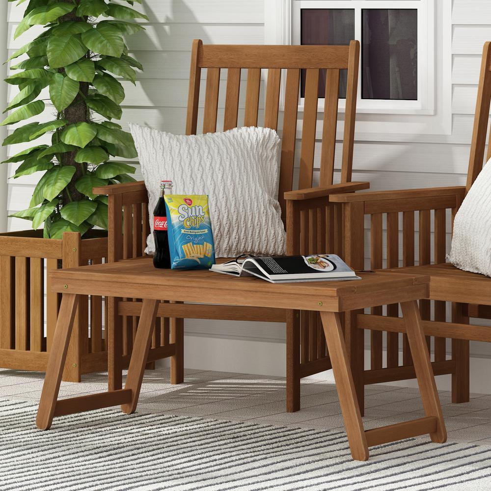 Furinno Tioman Rectangle Wood Outdoor Folding Coffee Table Fg19064