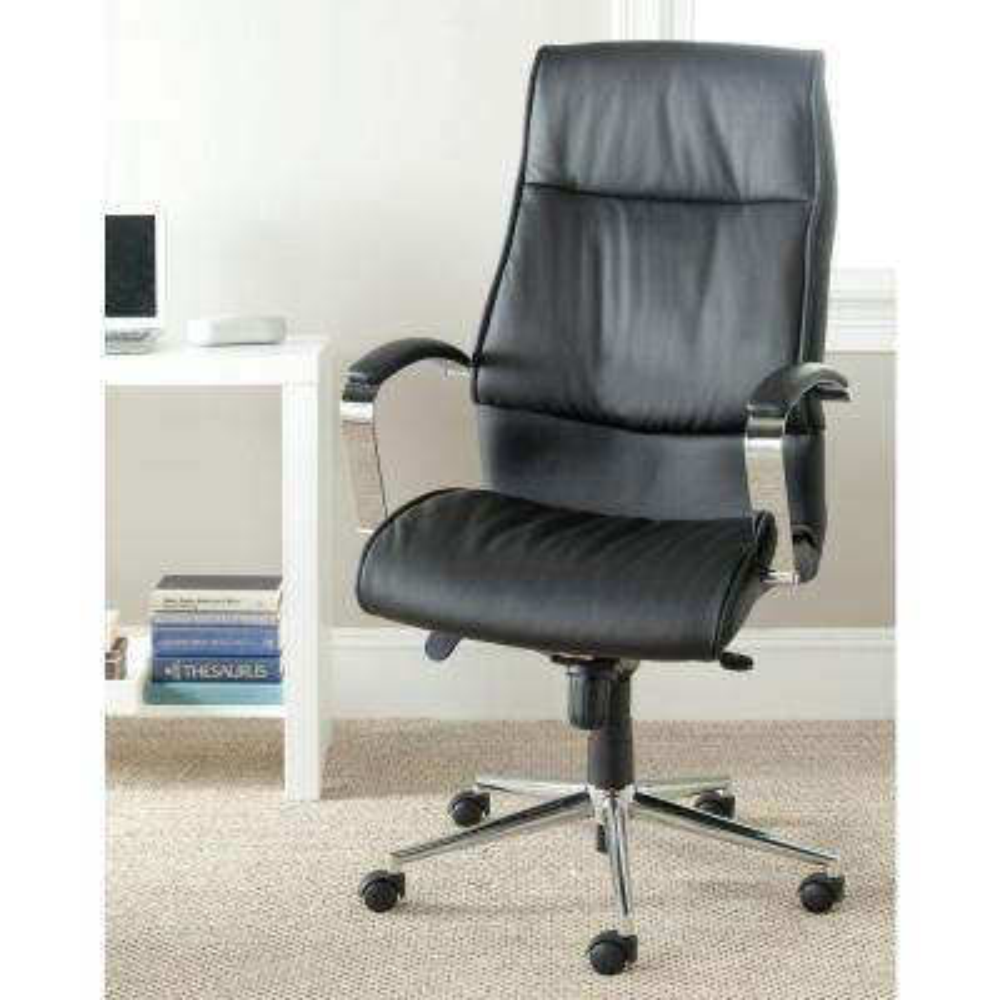 Fernando Black PU Leather Office Chair