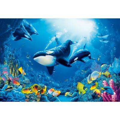 100 in. x 144 in. Delight of Life Wall Mural