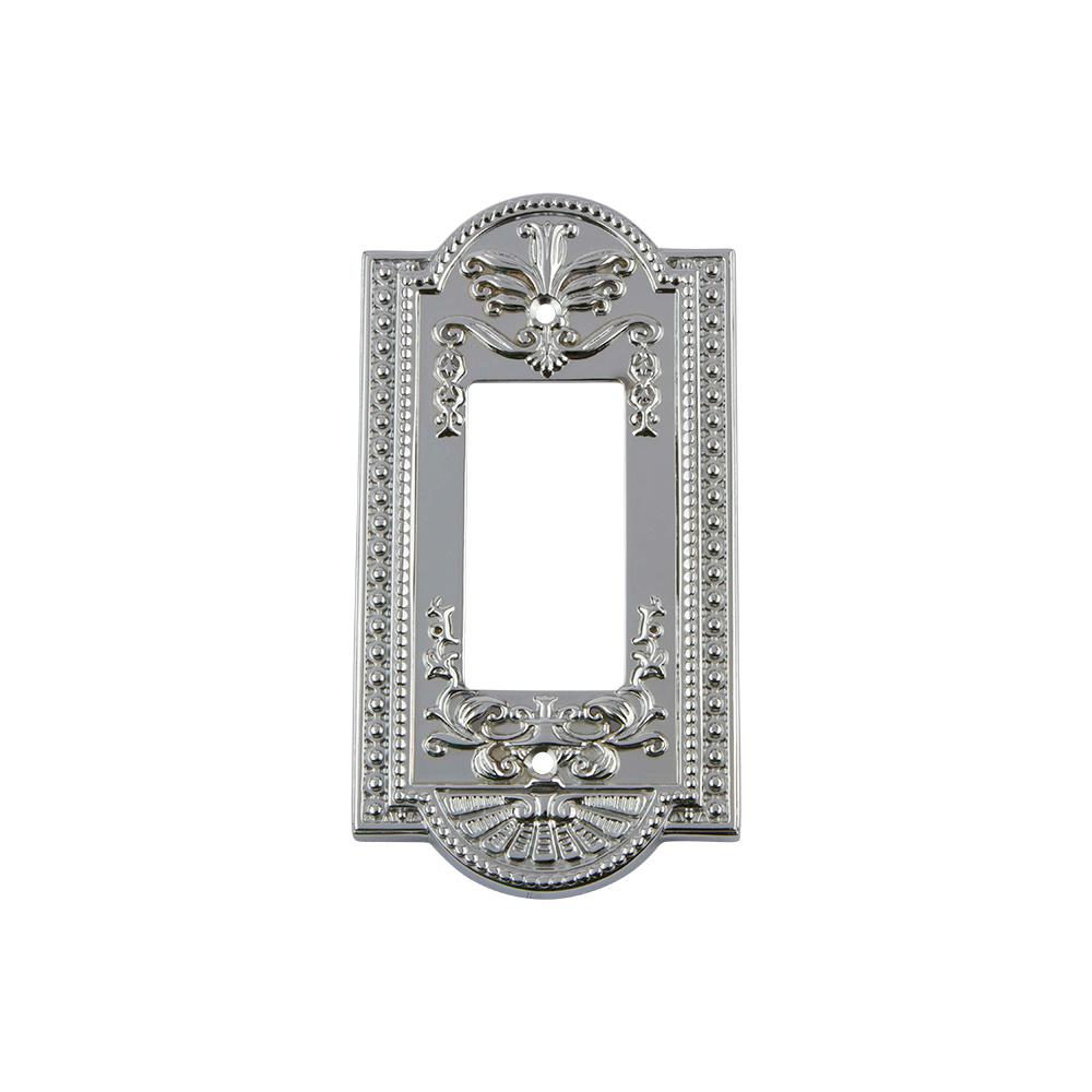 Meadows Switch Plate with Single Rocker in Bright Chrome