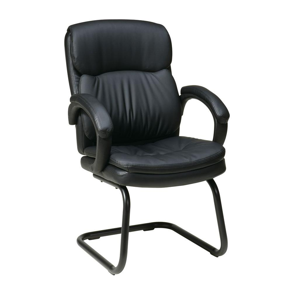 Black Eco Leather Visitor Office Chair