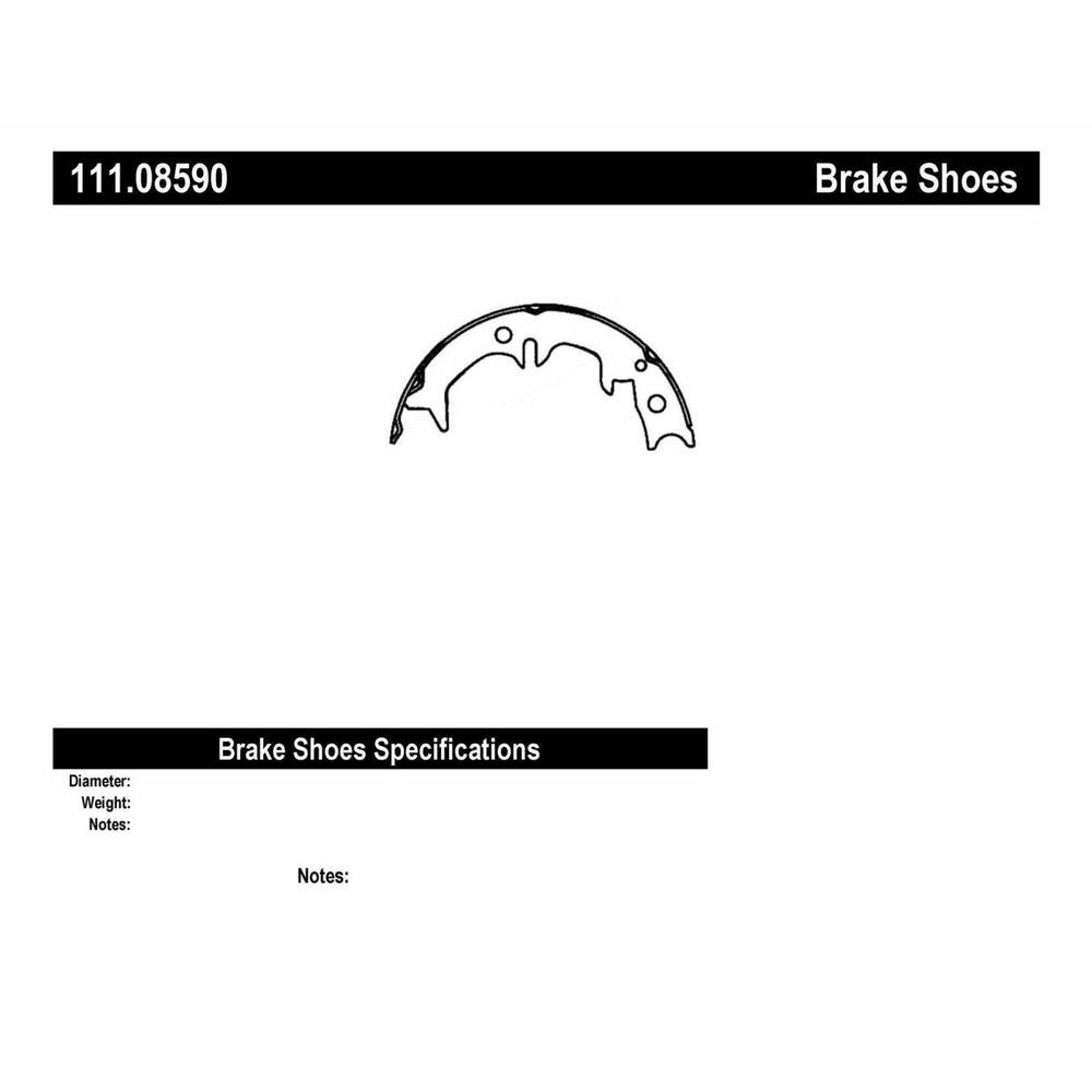 Centric Premium Parking Brake Shoes