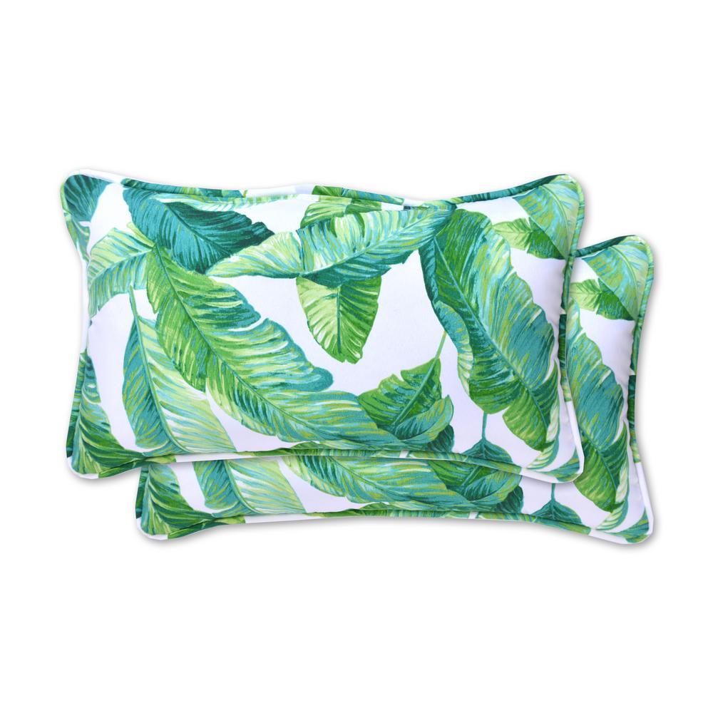 Hanalei Rectangle Lumbar Outdoor Throw Pillow (2-Pack)