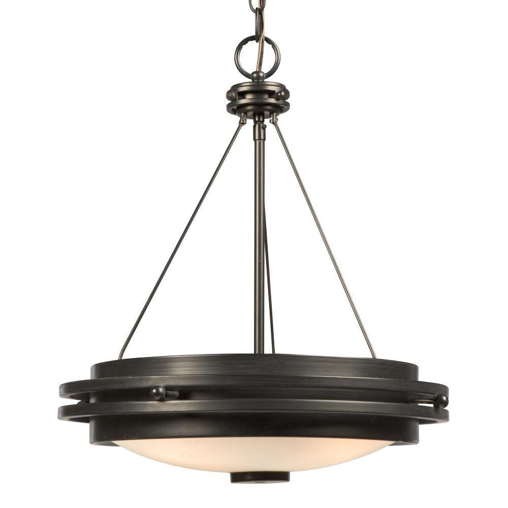 Filament Design Negron 3-Light Charcoal Black Incandescent Pendant