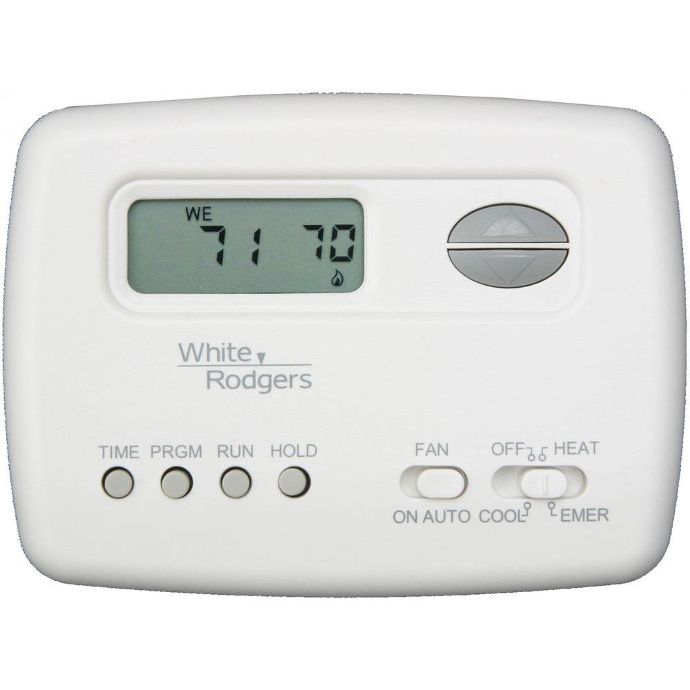 White Rodgers 5-2 Day 2-Stage Programmable Heat Pump Thermostat