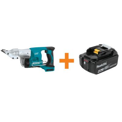 18-Volt LXT 18-Gauge Straight Shear (Tool-Only) with Bonus 4.0 Ah Battery