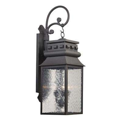 Georgetown Collection 3-Light Charcoal Outdoor Sconce
