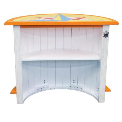 Half Moon Outdoor Bar Side Table