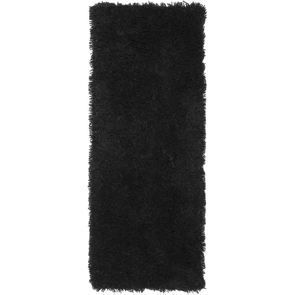 Classic Shag Ultra Black 2 ft. 6 in. x 4 ft.