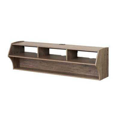 Altus Floating TV Stand in Drifted Gray