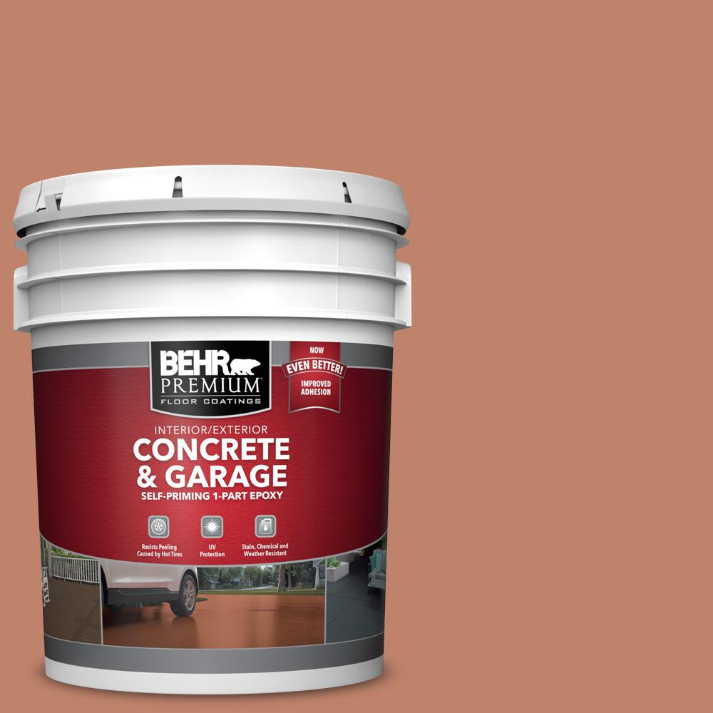 BEHR PREMIUM 5 gal. #PFC-13 Sahara Sand 1-Part Epoxy Satin Interior/Exterior Concrete and Garage Floor Paint