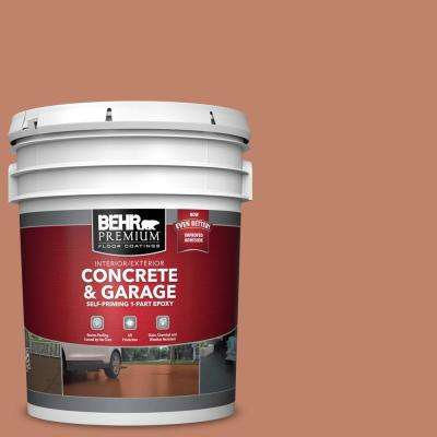 5 gal. #PFC-13 Sahara Sand Self-Priming 1-Part Epoxy Satin Interior/Exterior Concrete and Garage Floor Paint