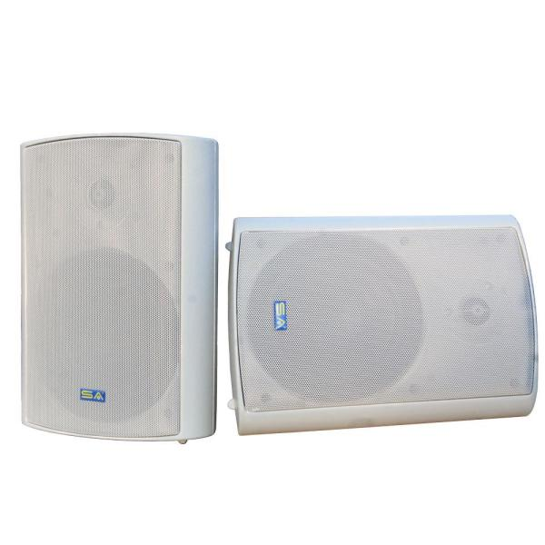6.50 in. Bluetooth Indoor/Outdoor Weatherproof Patio Speakers Wireless Outdoor Speakers, Gray