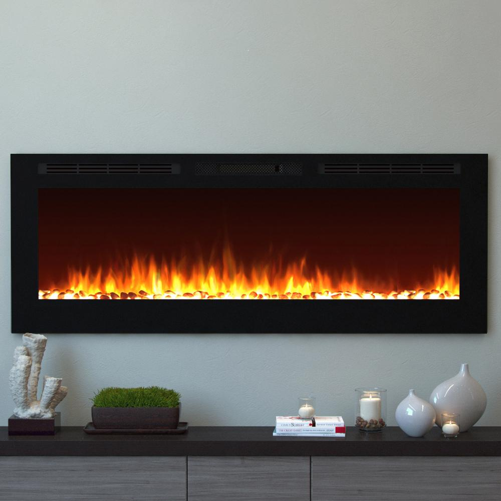 dining heater dp kitchen crystal changeable effect wall fireplace w black electric amazon com remote stone recessed flame color