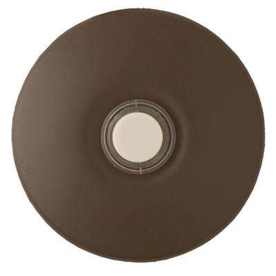 Wired Lighted Stucco Door Bell Push Button, Architectural Bronze for Prime Chime Door Bell Kit