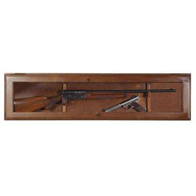 1 Gun Horizontal Key Locking Display Cabinet in Brown