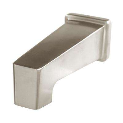 Kubos 5.75 in. Bathroom Tub Spout in Brushed Nickel