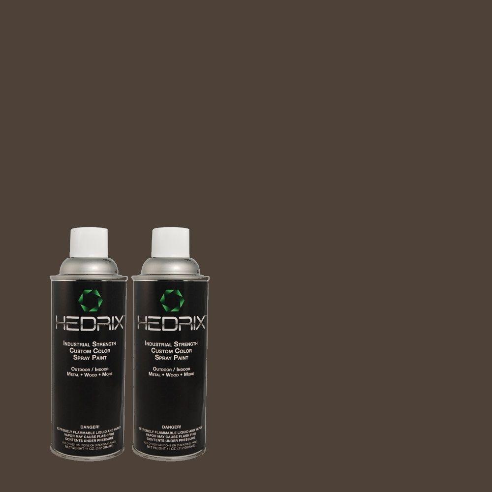 Hedrix 11 oz. Match of 750F-7 Deep Space Flat Custom Spray Paint (2-Pack)