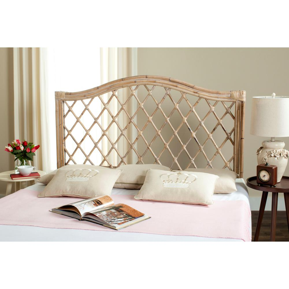 Safavieh Gabrielle White Washed Queen Headboard-SEA8031C-Q - The Home Depot