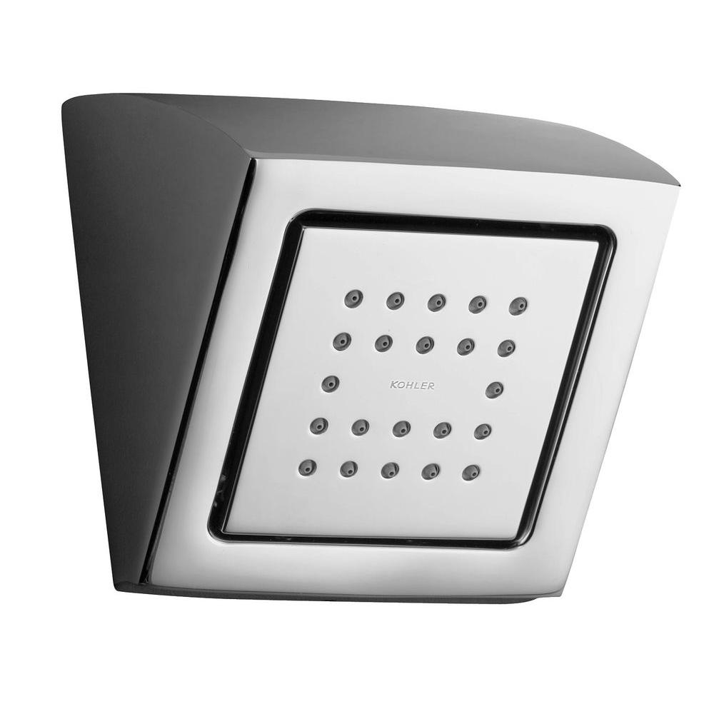 WaterTile Square 1-spray Single Function 4-3/4 in. 22-Nozzle Raincan Showerhead
