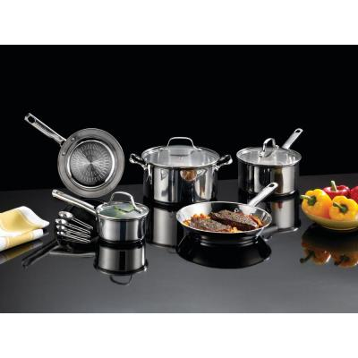 Performa Stainless Steel 12-Piece Cookware Set with Techno Release