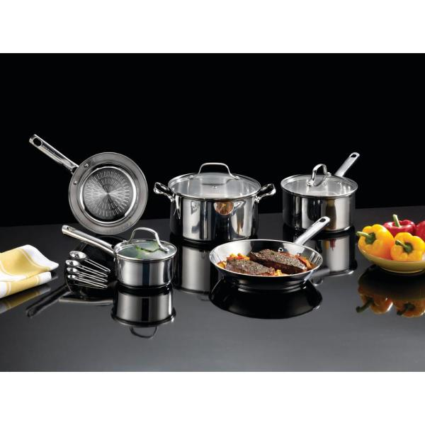 1beeca1b419 T-fal Performa Stainless Steel 12-Piece Cookware Set with Techno ...