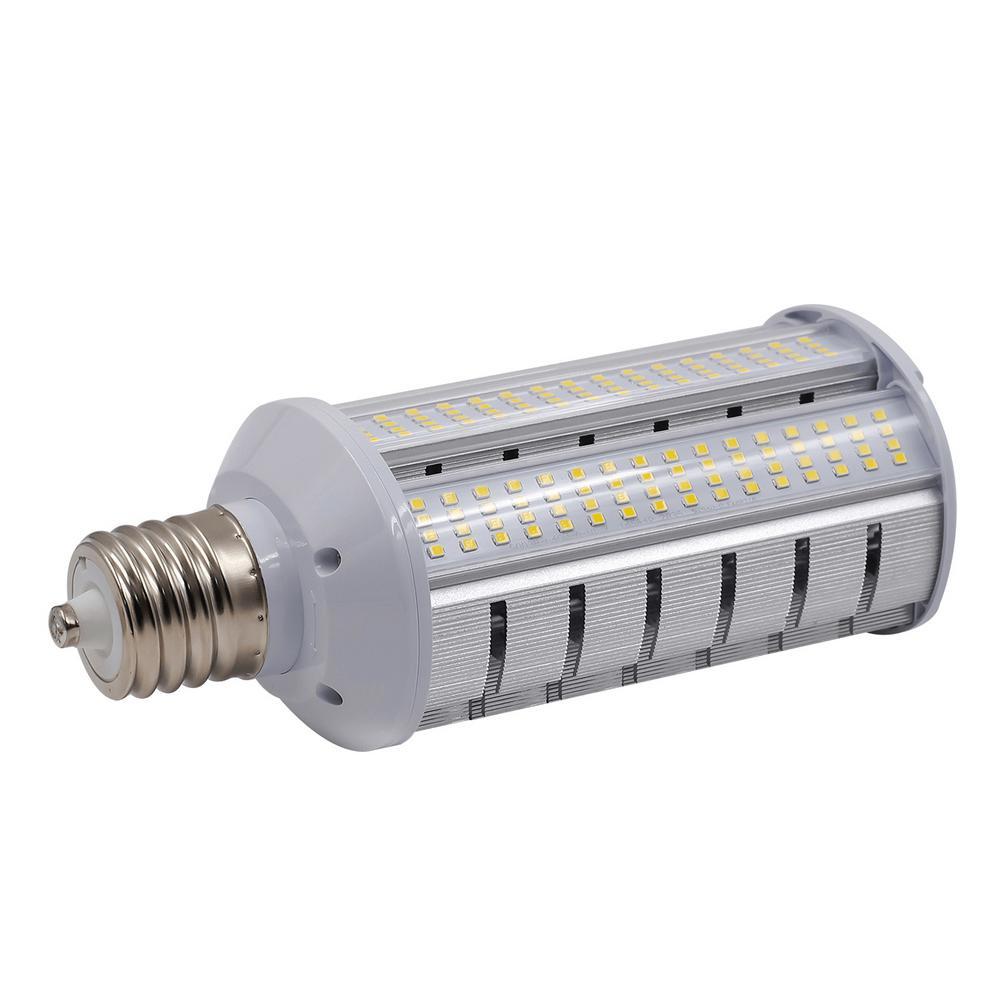 175-Watt Equivalent 40-Watt Corn Cob ED17 LED Wall pack Horizontal Bypass Light Bulb Med 120-277V Cool White 4000K 84026