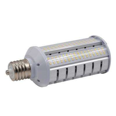 250-Watt Equivalent 60-Watt Corn Cob ED28 LED Wall pack Horizontal Bypass Light Bulb Med 120-277V Cool White 4000K 84030