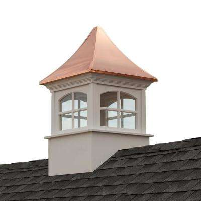 Westport 42 in. x 66 in. Vinyl Cupola with Copper Roof