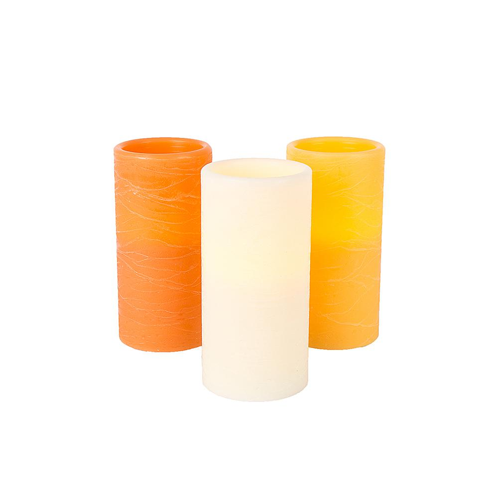 Home Accents Holiday 3 in. x 6 in. Battery Operated LED Candles - Assorted Colors