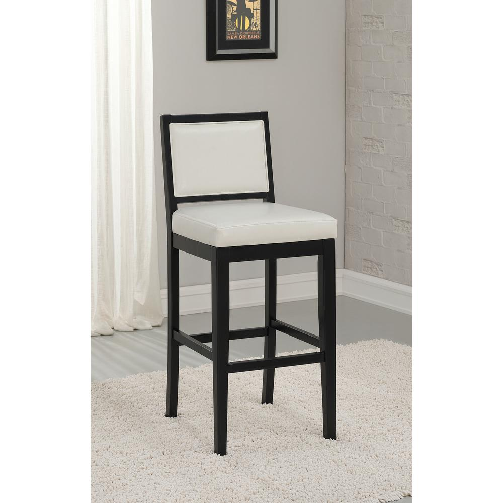 American Heritage Billiards Fairmount 26 In Black Cushioned Bar Stool