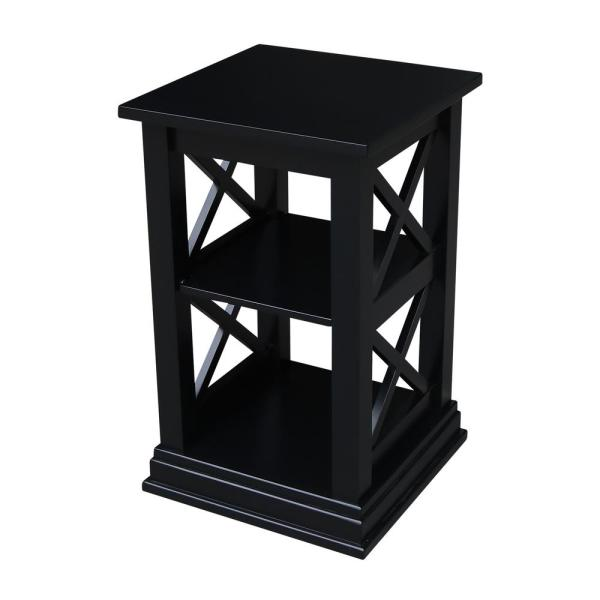 International Concepts Hampton 26 in. H Black Accent Table-OT46