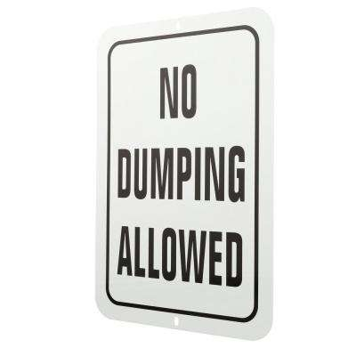 18 in. x 12 in. Aluminum No Dumping Allowed