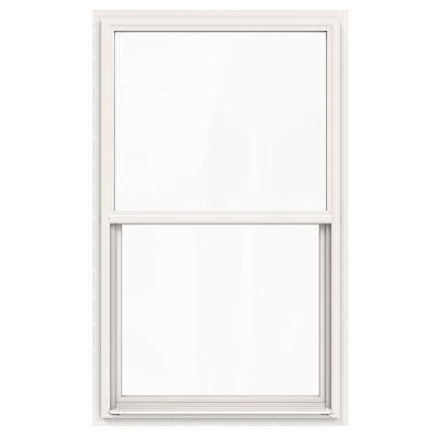 36 in. x 60 in. V-4500 Series White Single-Hung Vinyl Window with Fiberglass Mesh Screen
