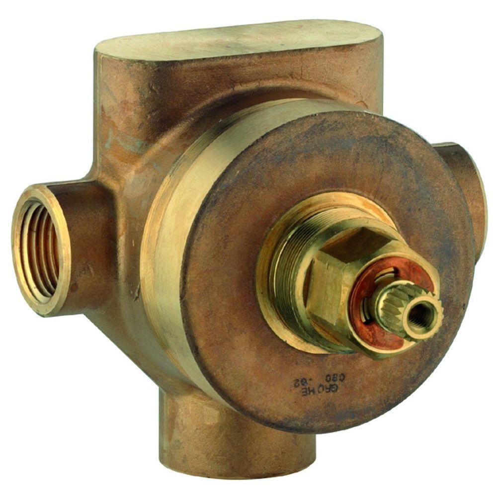1/2 in. Brass 3-Port Diverter and Transfer Valve