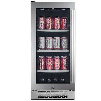 Single Zone 15 in. 86-Can Built-in Beverage Cooler - Left Hinge
