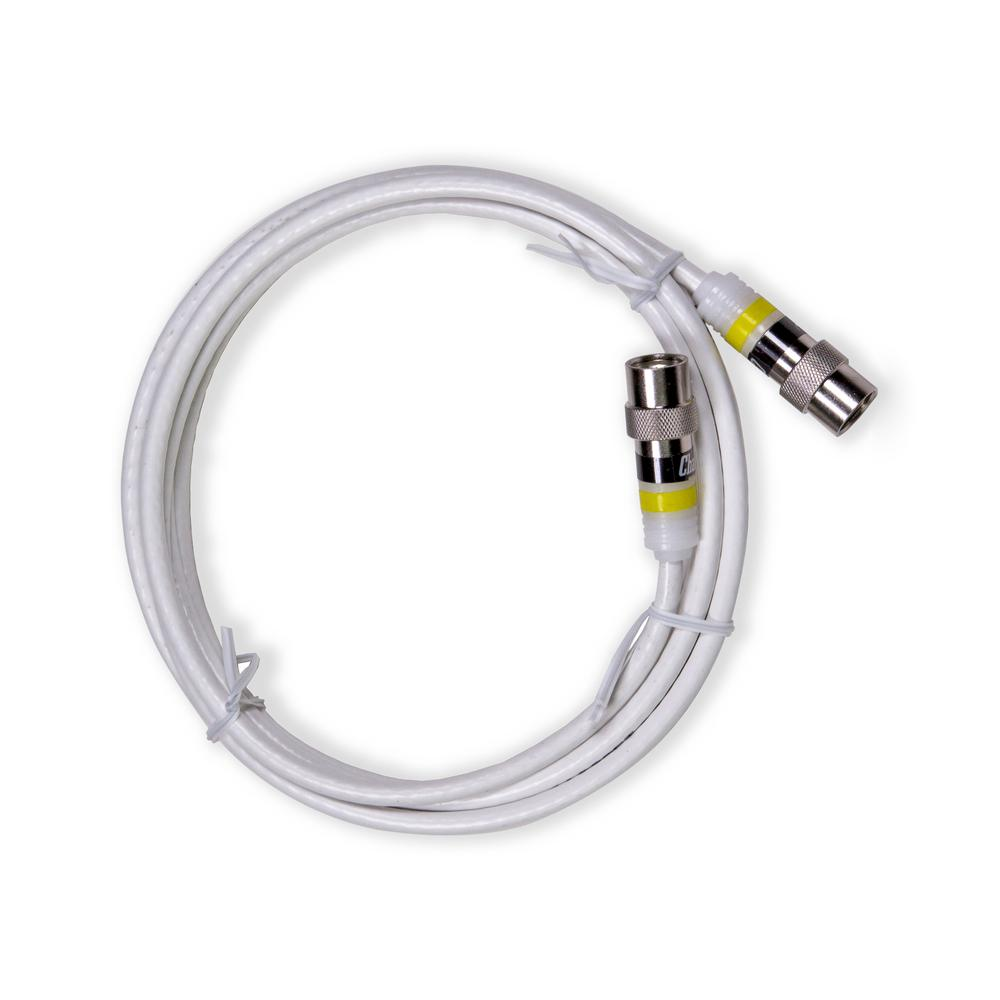 6 ft. Professional Indoor Mini Coaxial Cable with Easy Push-On Connectors,