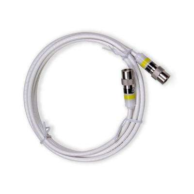 6 ft. Professional Indoor Mini Coaxial Cable with Easy Push-On Connectors, White