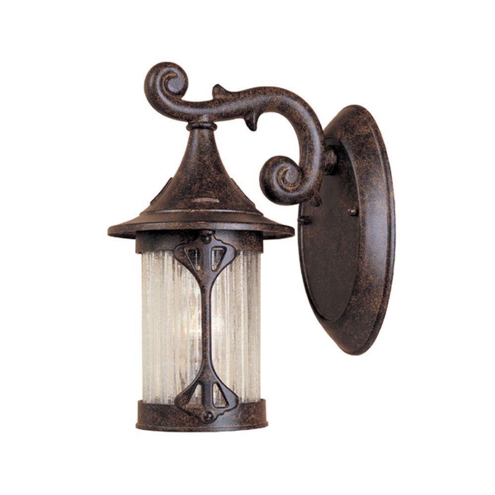 Designers Fountain Mill Creek Chestnut Lantern Outdoor Wall Mount