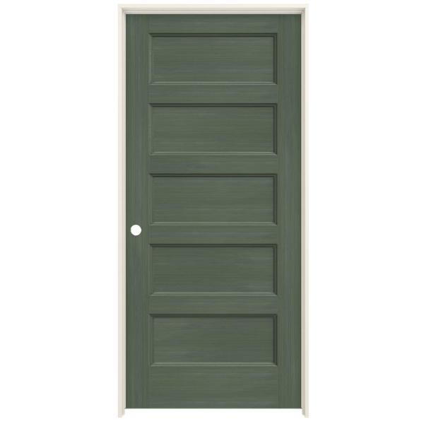 Jeld Wen 36 In X 80 In Conmore Juniper Stain Smooth Hollow Core Molded Composite Single Prehung Interior Door Thdjw236700308 The Home Depot