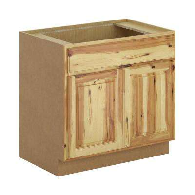 Madison Assembled 36x34.5x24 in. Sink Base Cabinet in Hickory