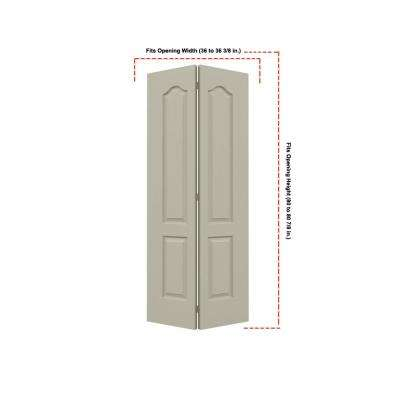 36 in. x 80 in. Camden Desert Sand Painted Textured Molded Composite MDF Closet Bi-fold Door