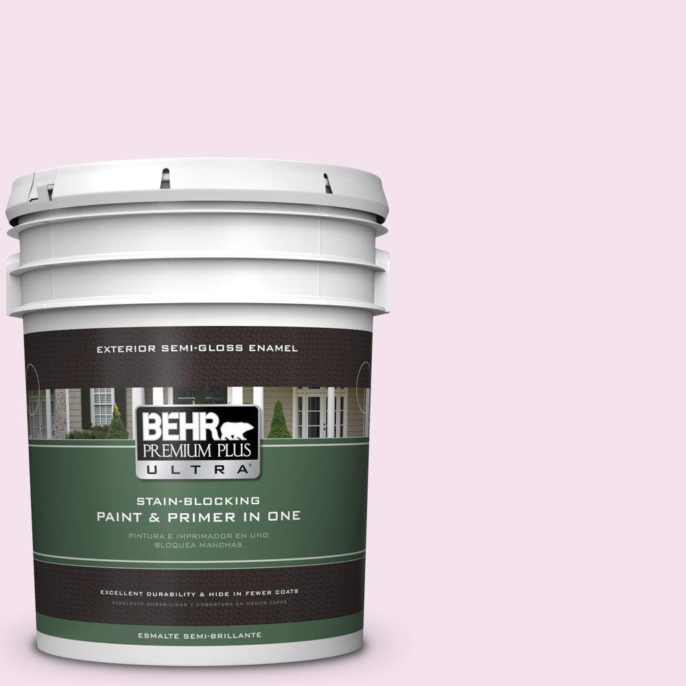 BEHR Premium Plus Ultra 5-gal. #690C-2 Pink Amour Semi-Gloss Enamel Exterior Paint